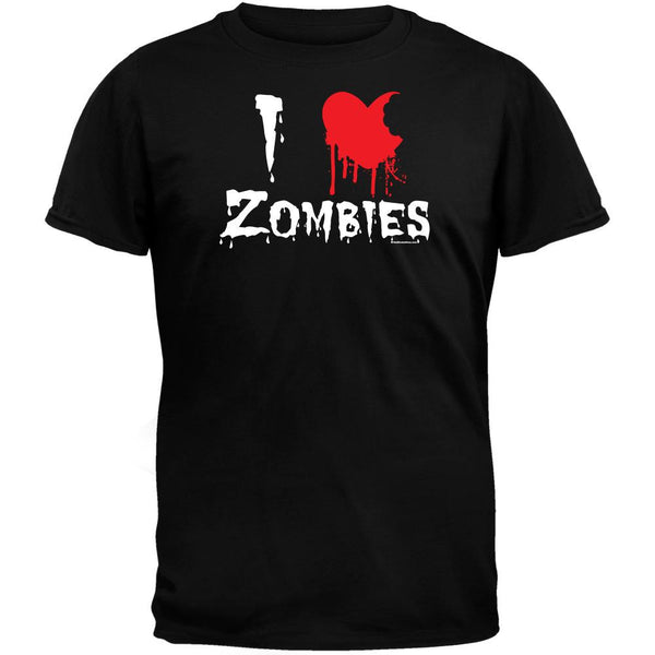 Halloween I Heart Zombies Black T-Shirt