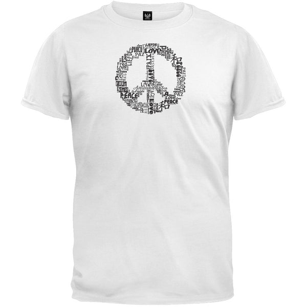 Love and Peace Sign White T-Shirt