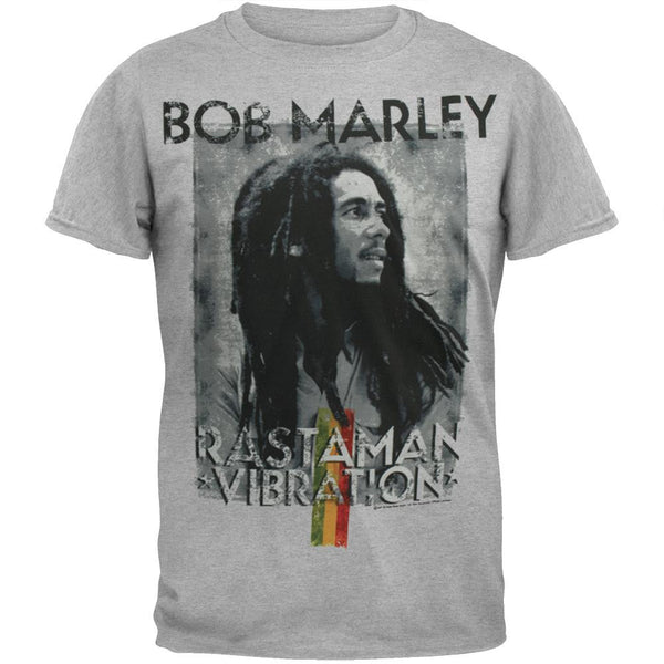 Bob Marley - Distressed Rastaman Soft T-Shirt