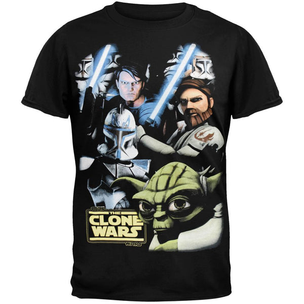 Star Wars - Clone Wars Faces Youth T-Shirt