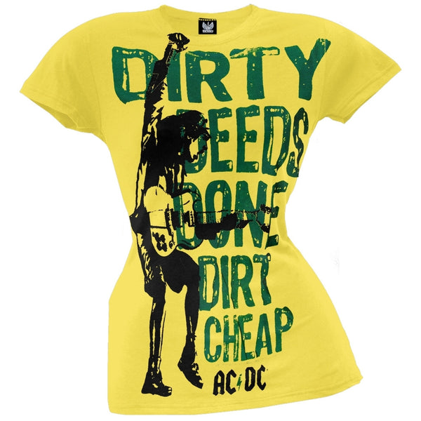 AC/DC - Dirty Deeds Strumming Juniors T-Shirt