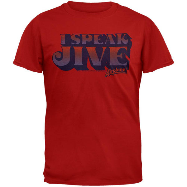 Airplane - I Speak Jive Red T-Shirt