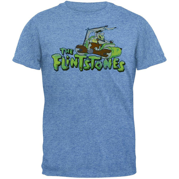Flintstones - Distressed Foot Power Light Blue T-Shirt