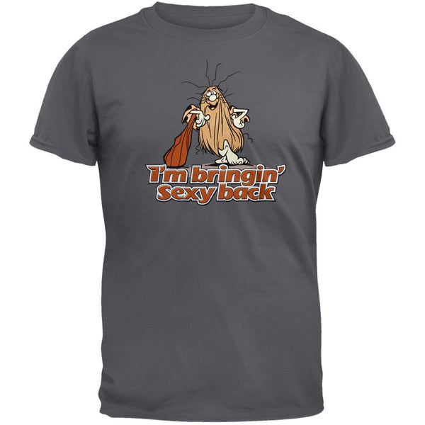 Captain Caveman - Sexy Back Charcoal Grey T-Shirt