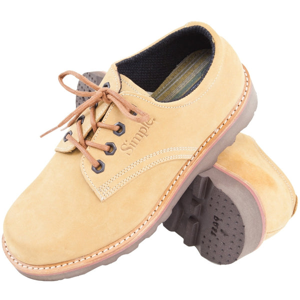Simple Postman - Lace Up Leather Shoe Natural