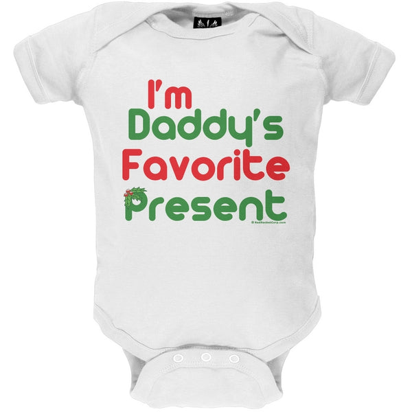 Christmas Daddy's Favorite Present Baby One Piece