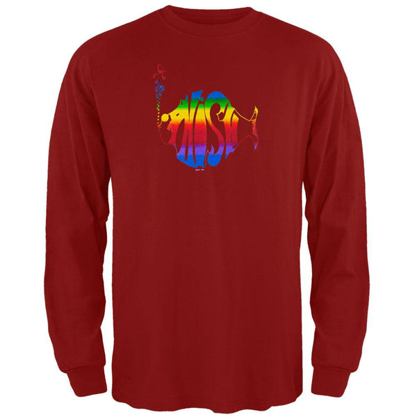 Phish - Rainbow Logo Red Long Sleeve
