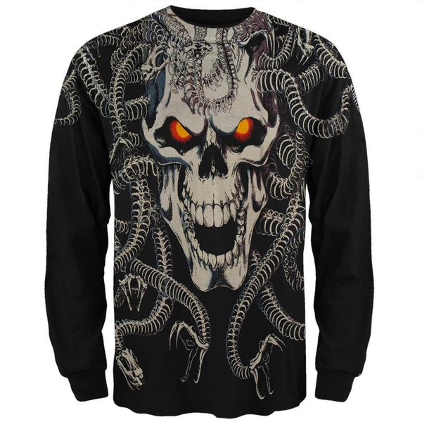 Medusa - Black Long Sleeve T-Shirt