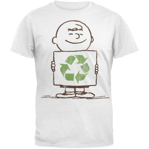 Peanuts - Charlie Recycling Soft Adult T-Shirt