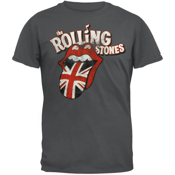 Rolling Stones - Distressed UK Tongue Soft T-Shirt