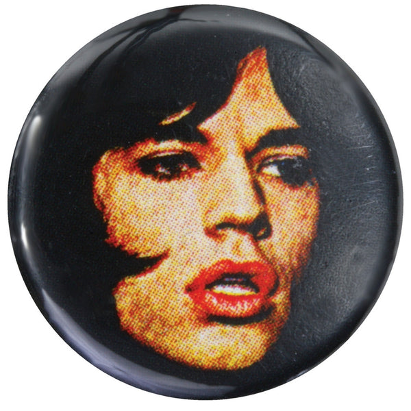 Rolling Stones - Mick Face Button