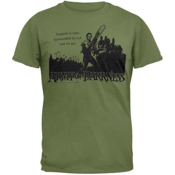 Army Of Darkness - Low On Gas Green Adult T-Shirt