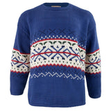 Blue Handmade Cotton Sweater