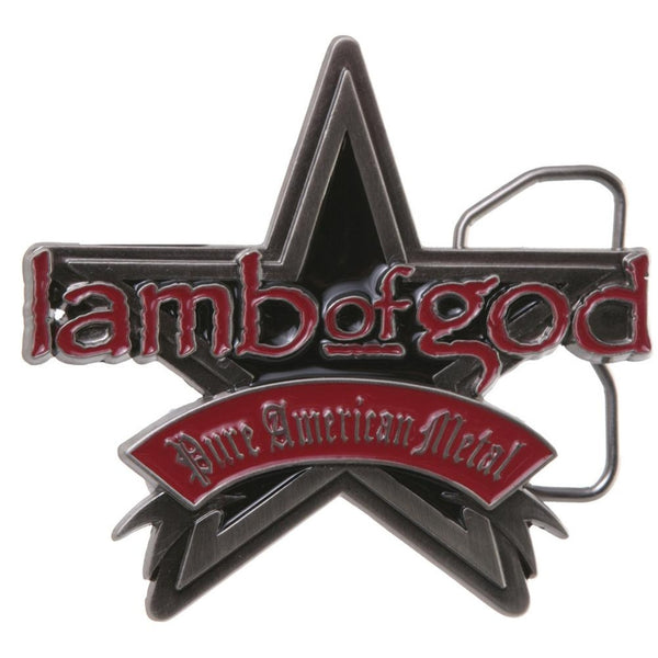 Lamb Of God - Metal Star Belt Buckle