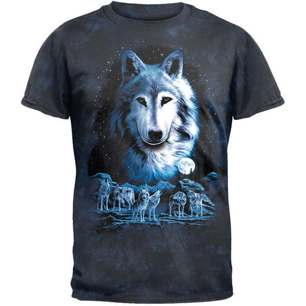Night Of The Wolves Tie Dye T-Shirt