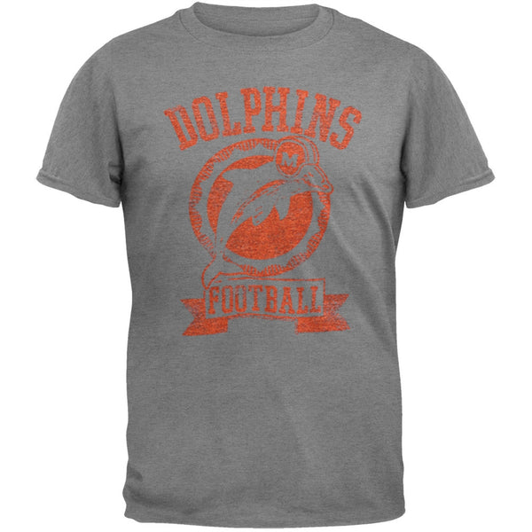 Miami Dolphins - Vintage Logo Soft Grey T-Shirt