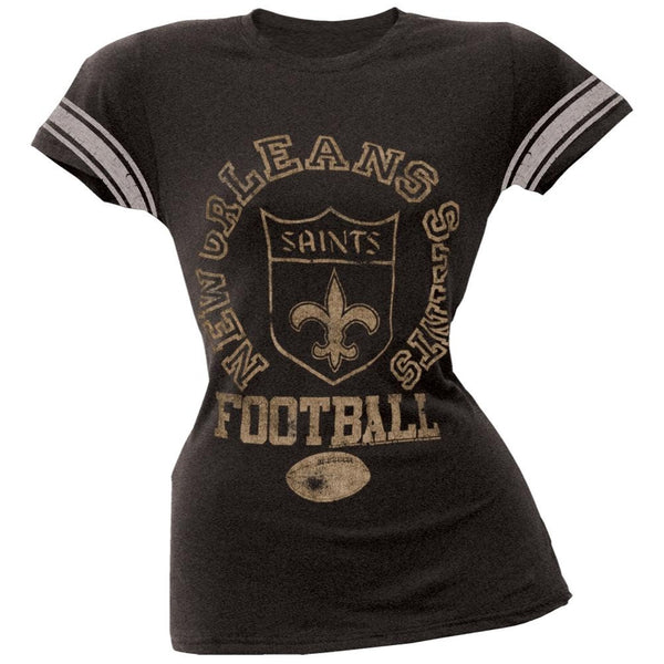 New Orleans Saints - Vintage Logo Juniors Varsity T-Shirt