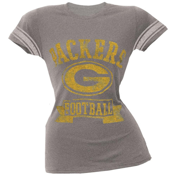 Green Bay Packers - Vintage Logo Juniors Varsity T-Shirt