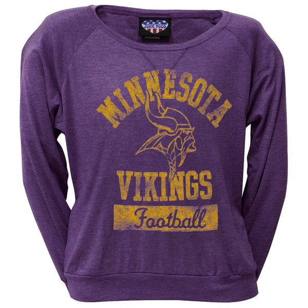 Minnesota Vikings - Vintage Logo Juniors Long Sleeve T-Shirt
