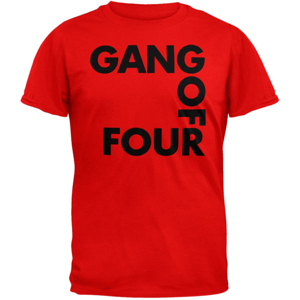 Gang Of Four - Logo Red T-Shirt