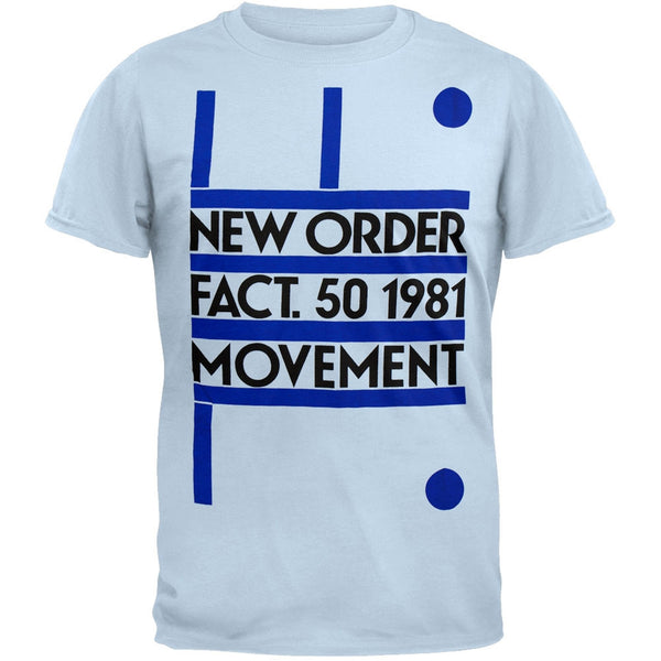 New Order - Fact 50 1981 Movement Soft T-Shirt