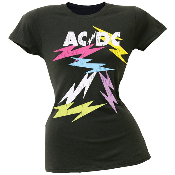 AC/DC - Neon Bolts Juniors T-Shirt