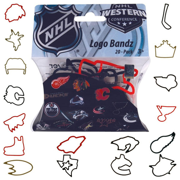 NHL- Western Conference Teams Logo Bandz