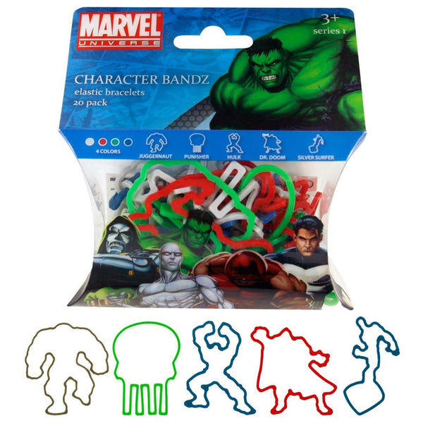 Marvel Heroes - Characters Set One Logo Bandz