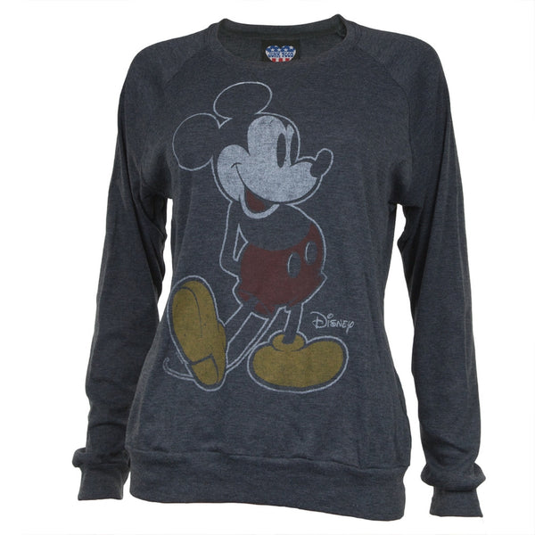 Mickey Mouse - Standing Juniors Long Sleeve T-Shirt