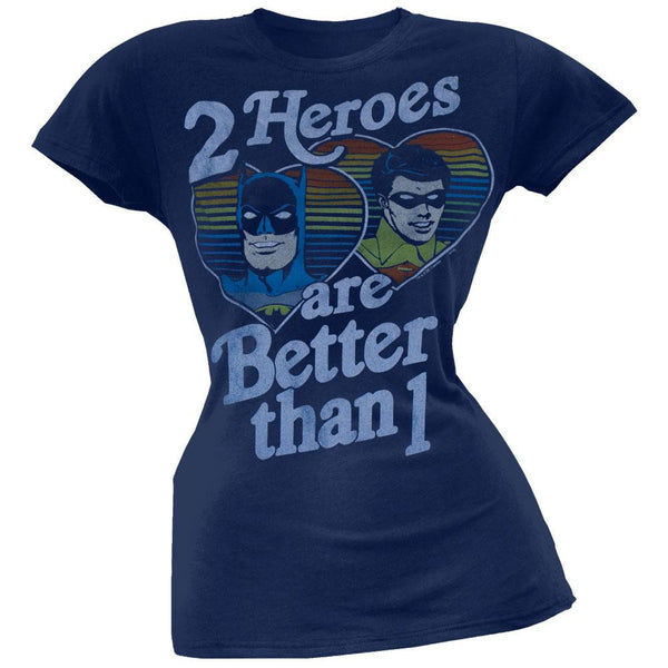 DC Comics - Two Heroes Juniors T-Shirt