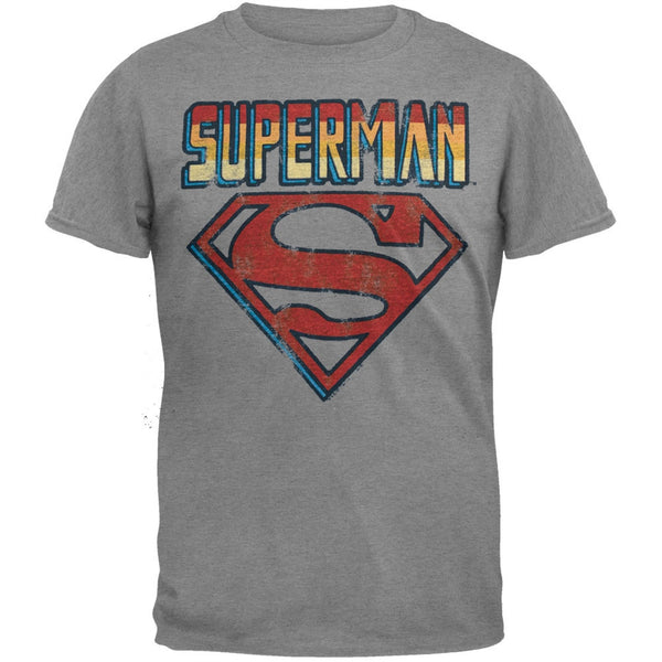 Superman - Name And Logo Soft T-Shirt