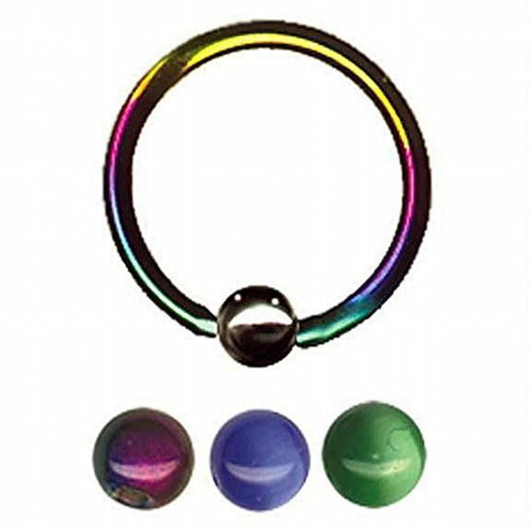 "12G 1/2"" Bonus Beads Captive Ring"