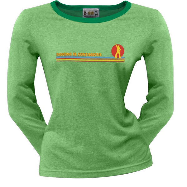 Little Hippie - Contagious Green Juniors Long Sleeve T-Shirt