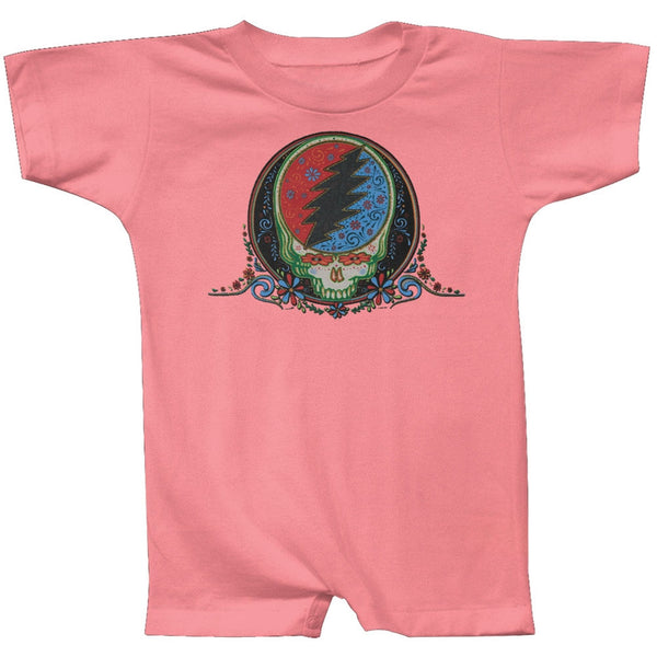 Grateful Dead - Stealie Calaveras Pink Infant Romper