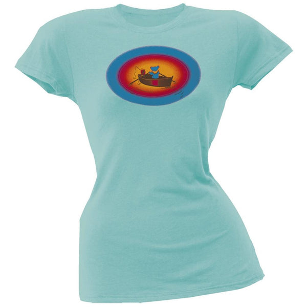Grateful Dead - Terrapin & Bear Dinghy Blue Juniors T-Shirt