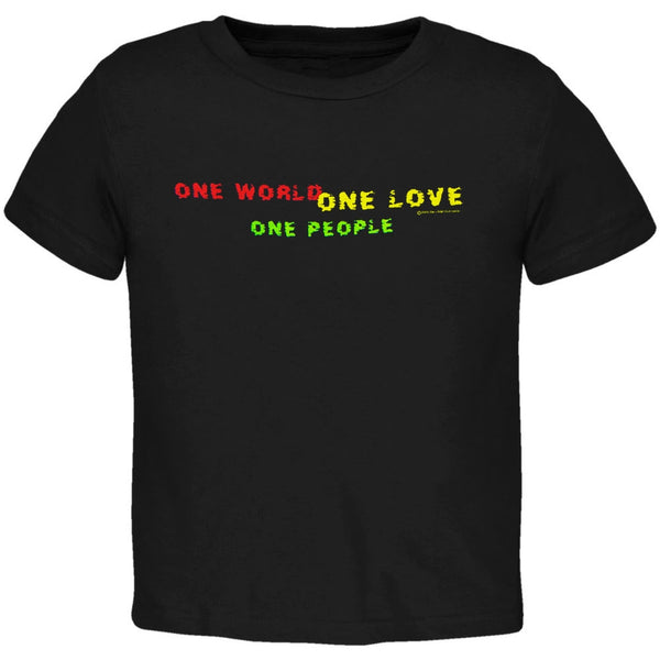 Little Hippie - One Love Black Toddler T-Shirt