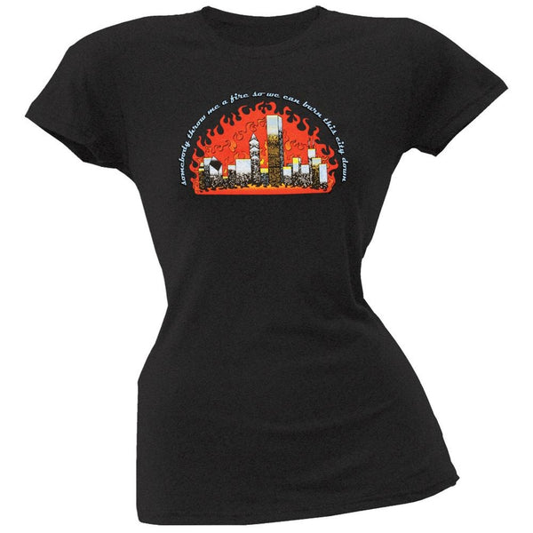 Little Hippie - City Of Fire Juniors T-Shirt
