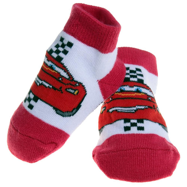 Cars - Lightning Mcqueen Red Baby Socks