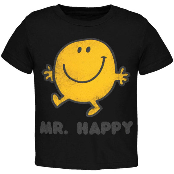 Mr. Men - Mr. Happy Stroll Brown Juvy T-Shirt
