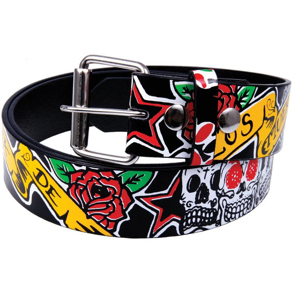 Los Muertos Leather Belt