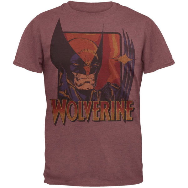 Wolverine - Claws Maroon Soft Adult T-Shirt