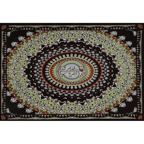 Grateful Dead - Kaliedescope Dancing Bear Tapestry