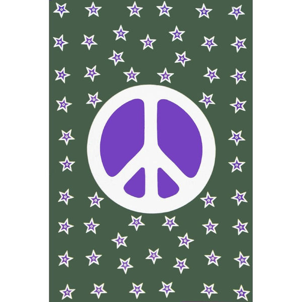 Peace Sign Star Tapestry