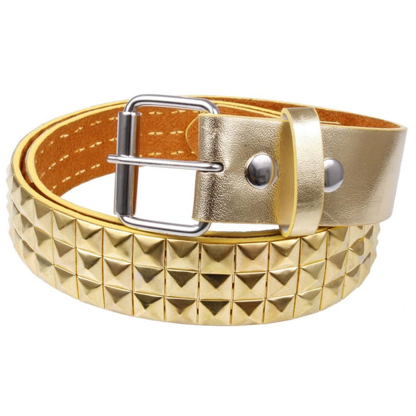 Gold Studded Leather Belt