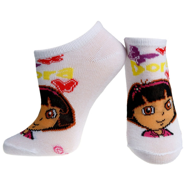 Dora The Explorer - Face White Socks