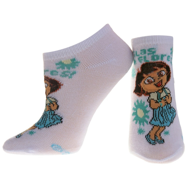Dora The Explorer - Happy White Socks