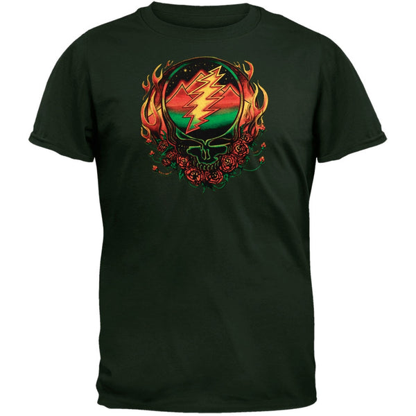 Grateful Dead - Scarlet Fire SYF Dark Green Adult T-Shirt