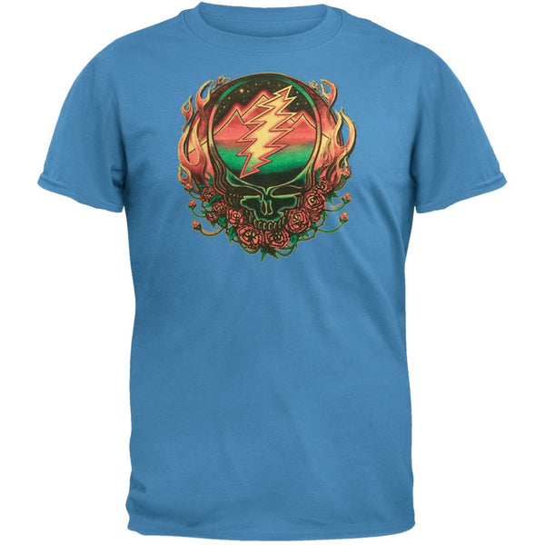 Grateful Dead - Scarlet Fire SYF Light Blue Adult T-Shirt
