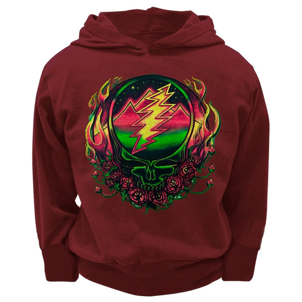 Grateful Dead - Scarlet SYF Maroon Toddler Hoodie
