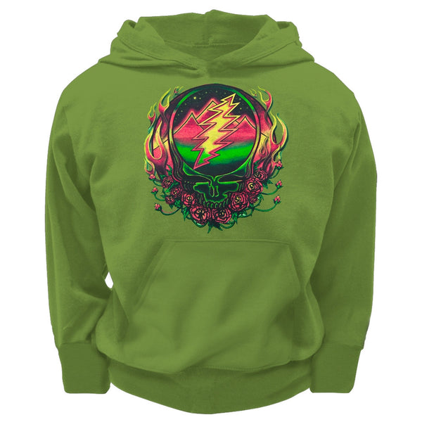 Grateful Dead - Scarlet SYF Green Youth Hoodie